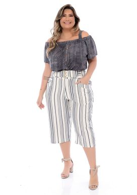 Calça Pantacourt Plus Size Miracy