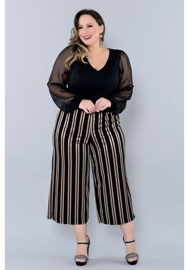 calca pantacourt plus size sienna