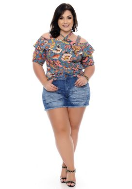 Shorts-Jeans-Plus-Size-Siange