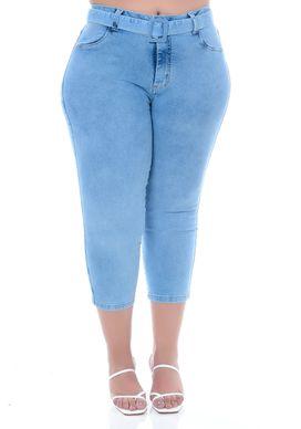 Calça Capri Jeans Plus Size Keoki