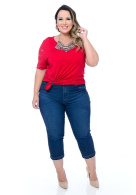 Calça Jeans Capri Plus Size Meryl