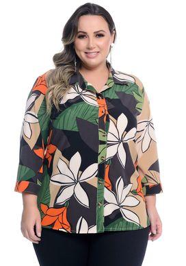 Camisa-Estampa-Tropical-Manga-3-4-Plus-Size