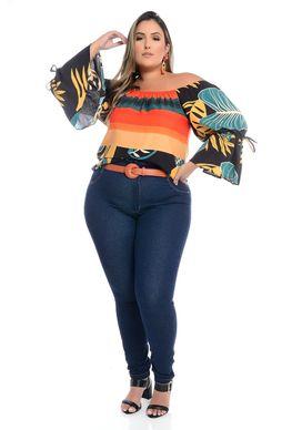 Calça Legging Jeans Plus Size Cleris